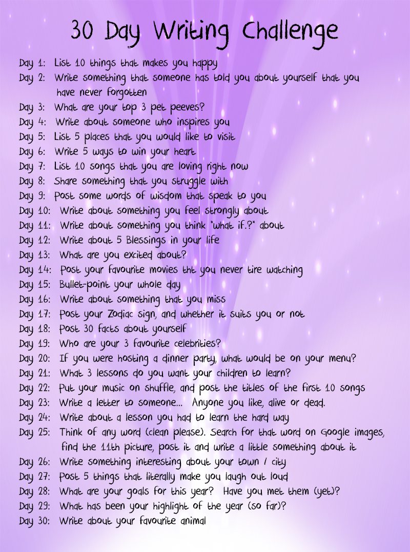 30 day otp challenge writing a cover